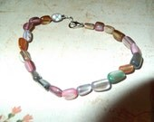multi colored stones mens/womens beaded bracelet