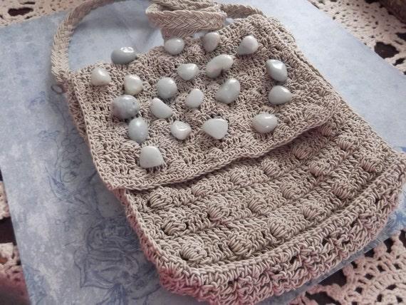 crossbody purse with ocean blue stones, beaded bag, hobo bag,