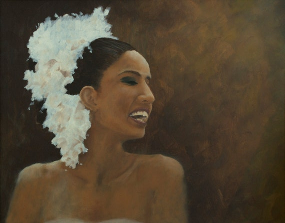 Original Oil Painting - 16 x 20 inches- The Dancer