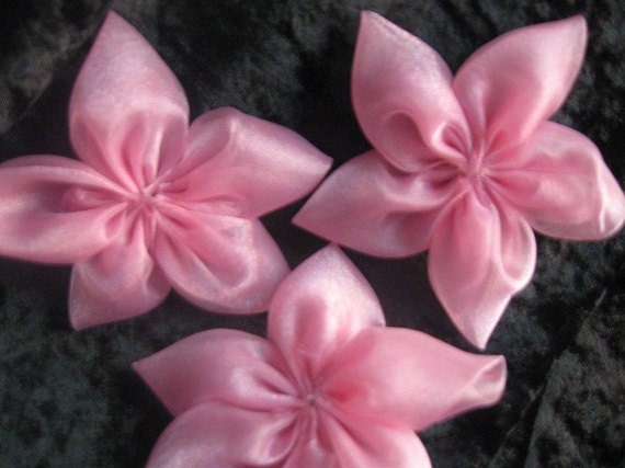 5-Petal Light PInk Organza Flowers