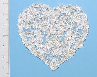 Heart Trellis Soutache Applique Embellishment
