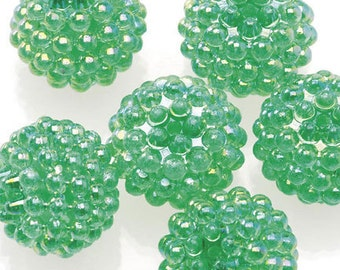 Basketball Wives Jewelry Resin Ball Bead Green16mm Pkg/6