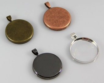 50 Pendant Bezel Trays 25mm - 60% Off Slightly Imperfect - Round