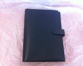 Vintage Coach Black Leather Address Book