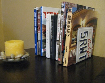 CALIFORNIA  LICENSE PLATE Bookends- Perfect for an Office - Mancave - Den.....many states available