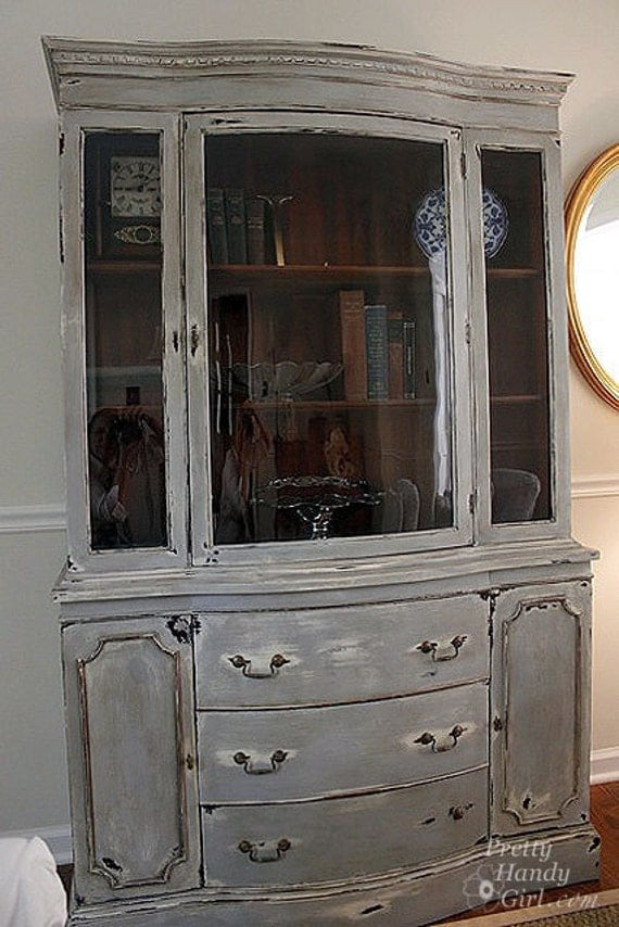 grey china cabinet painted and distressed china cabinet pending 16083