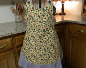 Ladies Full Apron, Lazy Susan Apron, Woman's full Apron / Retro Style / Full Designer Kitchen Apron