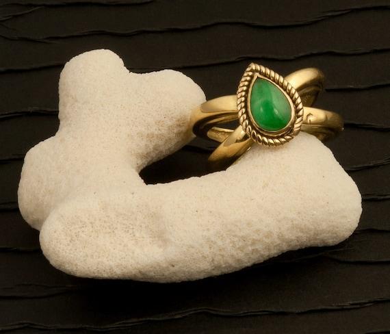 Tiffany & Co. Teardrop Jade Ring
