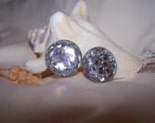 60's Mod Acrylic Confetti Earrings (Clip-On)