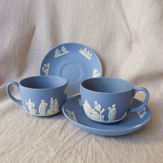 Blue Wedgewood Cup And Saucer 82