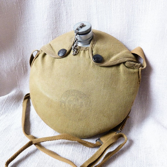 Vintage Boy Scouts Cloth Covered Canteen