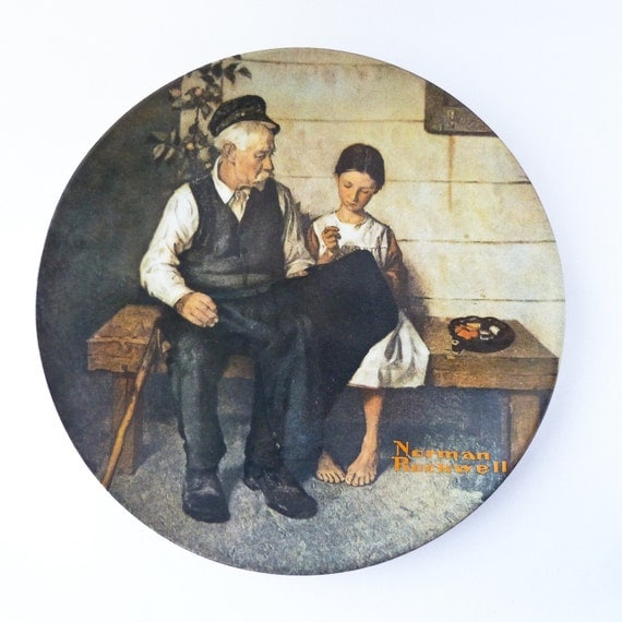 Norman Rockwell Plate The Lighthouse Keeper S Daughter