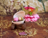 Ria and Rosebud-mother and baby flower fairy dolls with charm