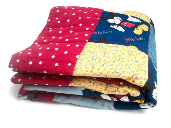 Mickey Mouse Scooby Doo Patchwork Quilt