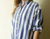 DKNY Striped Button Down Oxford Shirt 100% Cotton