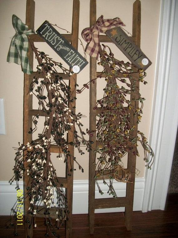Wooden Primitive Ladders