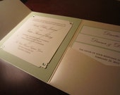 Custom Listing for Meika - Elegant Sage and Champagne Wedding Invitation