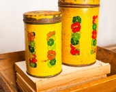 Yellow kitchen tins