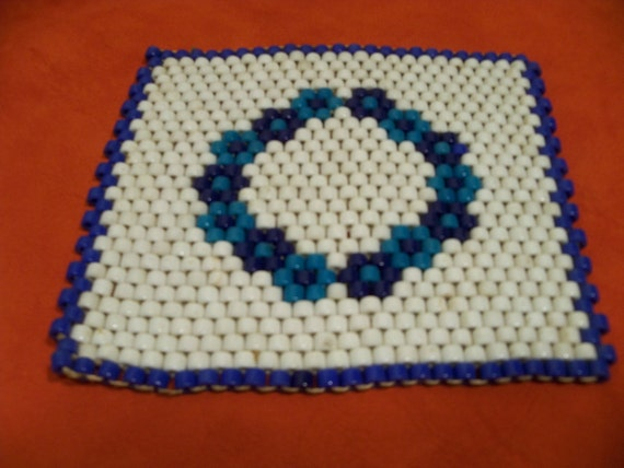 Ceramic beaded woven trivet