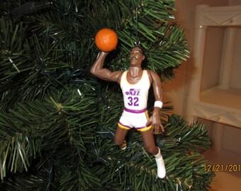 Karl Malone Utah Jazz custom  SEE DESCRIPTION basketball christmas sports ornament many to choose from.