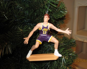 John Stockton Utah Jazz custom SEE DESCRIPTION basketball christmas sports ornament many to choose from.