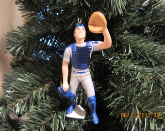Gary Carter or Tom Seaver Howard Johsnon Mike Piazza Edgardo Alphonso New York Mets  baseball Christmas sports ornament
