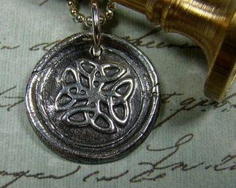 Celtic Knot Wax Seal Pendant and Chain
