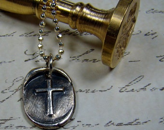 Cross Seal Pendant and Chain