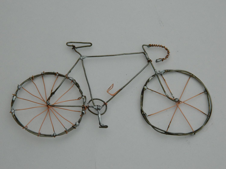 My First Road Bike Wire Sculpture Copper / Steel