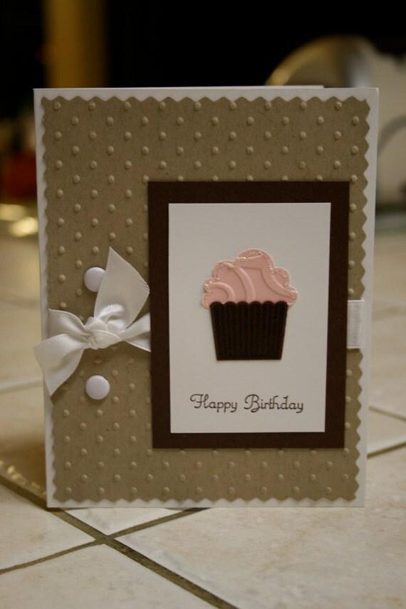 Stampin up birthday handmade greeting card
