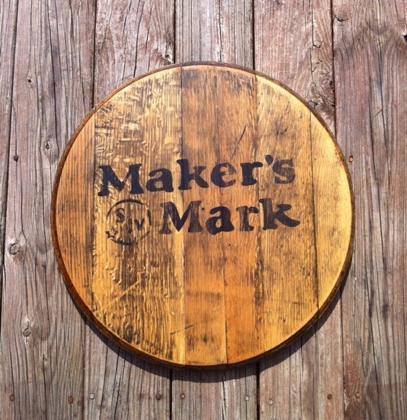 Makers Mark Bourbon Whiskey Whisky Barrel Head