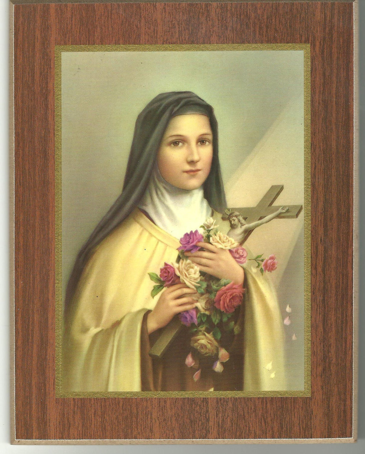 Vintage Catholic Religious Art St Therese of Lisieux Little