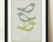 Danish Modern, Scandinavian Design, Contemporary Art, Quote Print, Bob Marley, Three Little Birds, Quote poster
