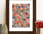 Abstract Art, Geometric Print, Harlequin, Mid Century modern, Home decor, Geometric wall art, Contemporary print, Abstract pattern poster