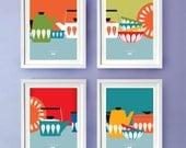 Kitchen Wall Art, Cathrineholm, Kitchen Décor, Mid Century Modern, Wall Décor, Poster Prints, 8 x 10 (A4)
