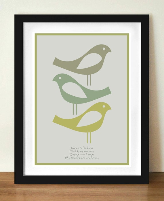 Contemporary Art, Quote Print, Bob Marley, Three Little Birds, Quote poster