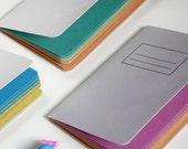 Rainbow Handmade Notebook  Set of 3 - Eco Friendly Travel Journals-