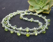 Add A Clasp Peridot / 925 Sterling Silver Necklace