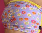 Bandeau in lila and yellow for Bikram yoga