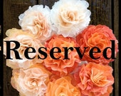 RESERVED - 3 bouquets -  light peach and sunny yellow
