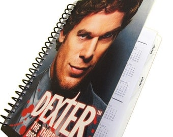 Dexter 2017 / 2018 Daily Planner / Calendar Up-Cycled (Multiple Cover Choices)