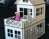 Toy Wooden Dollhouse Plywood Kit