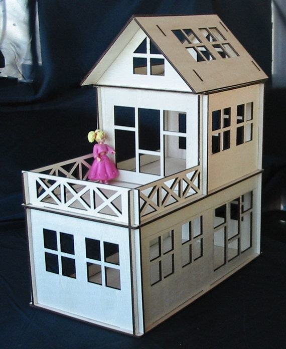 Wooden Dollhouse Plywood Kit Type A