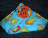 16 x 17 in. puppy  blanket with toy attached