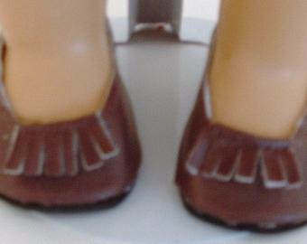 Brown Fringed Ballet Flat