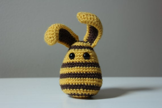 Ready to ship - Bee like Bunny (crocheted rabbit)