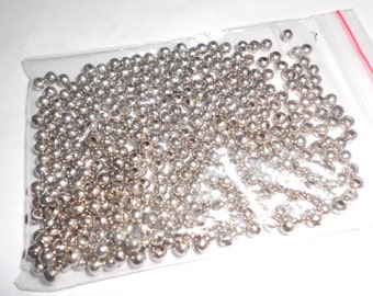200 silver plated spacers, 3 mm (5)