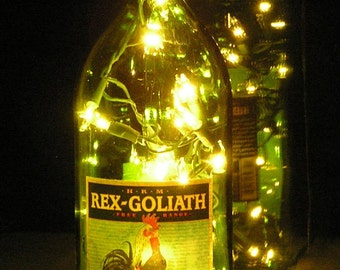 Rex Goliath  Wine Bottle Light with white lights