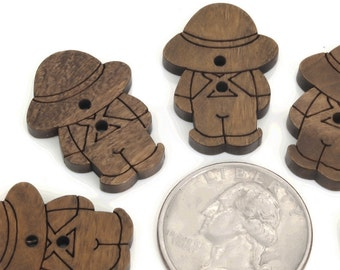 12 Buttons, natural material wood buttons, child ,  for jewelry,sewing,embellishment