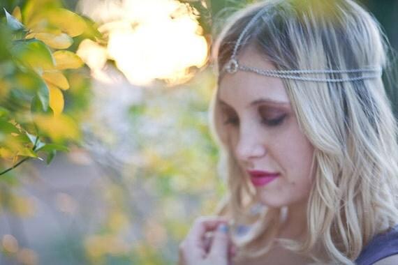 Chain Headdress, Headband, Head Chain, Chain Head Piece, hair jewelry, Bridal hair accessory, Chain Head Piece, Head Jewelry Chain
